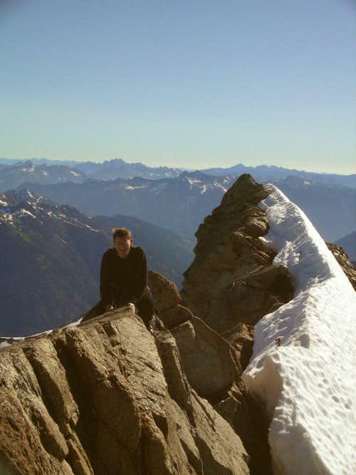 On the summit ridge!