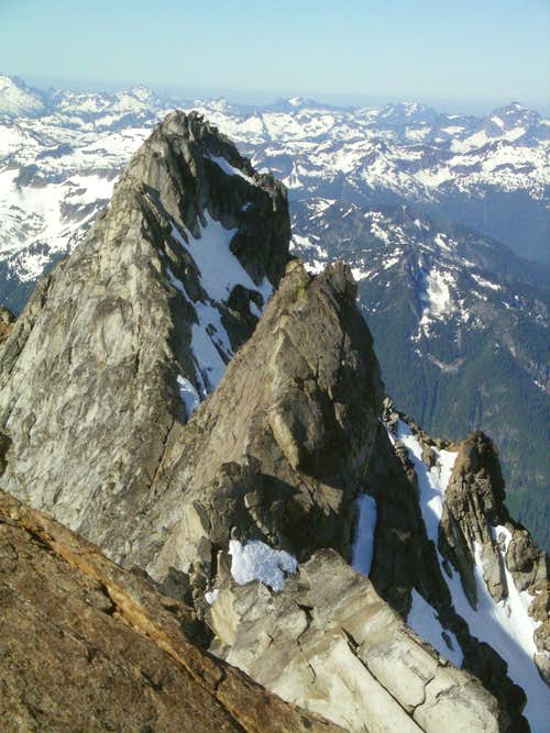 Summit ridge of Dome