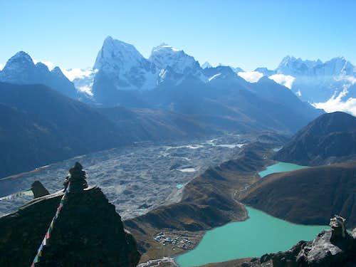 Cholatse,glaciar y lagos de Gokyo,Nepal