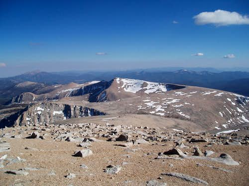 Cirque Peak from the top of Mount Langley