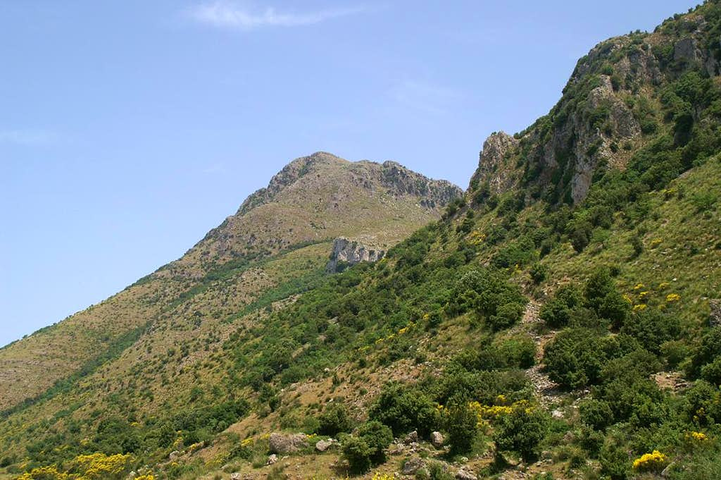 Monte San Calògero south-west face