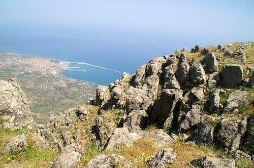 Summit view to Termini Imerese