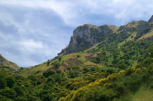 Monte Macabubbo seen through the ascent valley