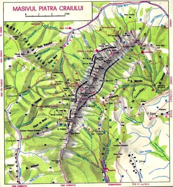 Map Of Piatra Craiului Photos Diagrams Topos Summitpost