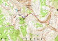 Rock Peak Route Map