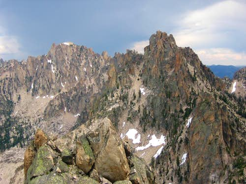Braxon Peak and Pk 9980 from the summit