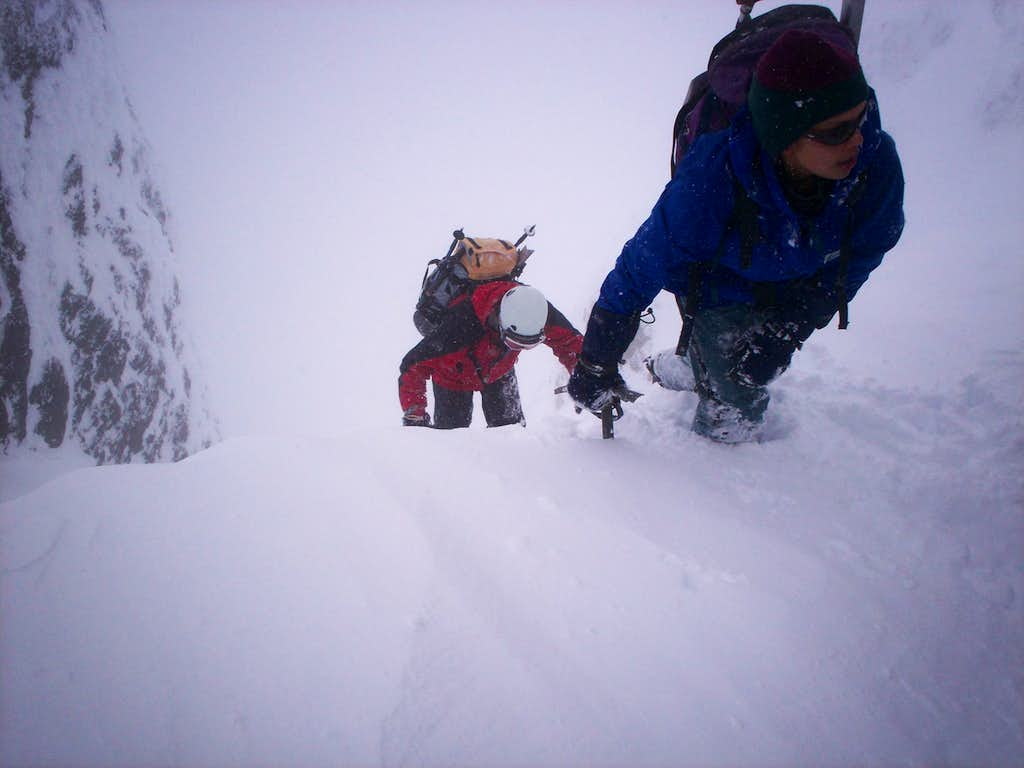 finishing the main/snow/north gulley