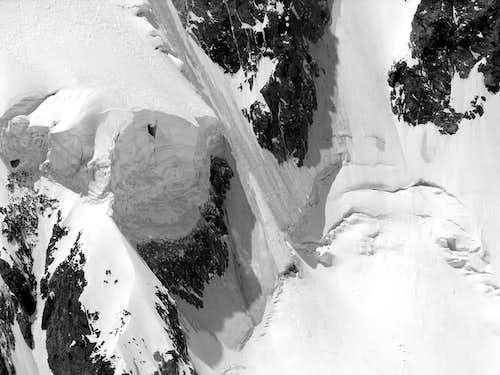 B&W il ghiacciaio della Brenva