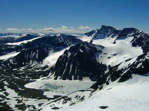 Tarfalajaure and the Kebnakaise Massif