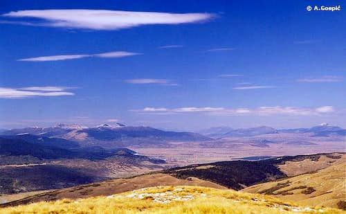 View from Cincar, in Šator and Klekovača direction (by courtesy of Aleksandar Gospic)