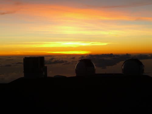 Various telescopes from Mauna Kea summit