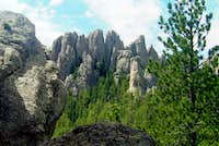 View of Catherdral Spires from Trail #4