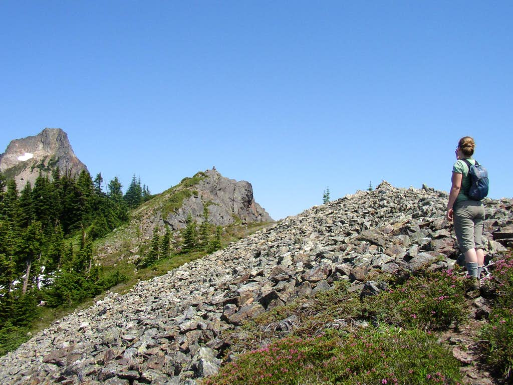 Hiking to the false summit