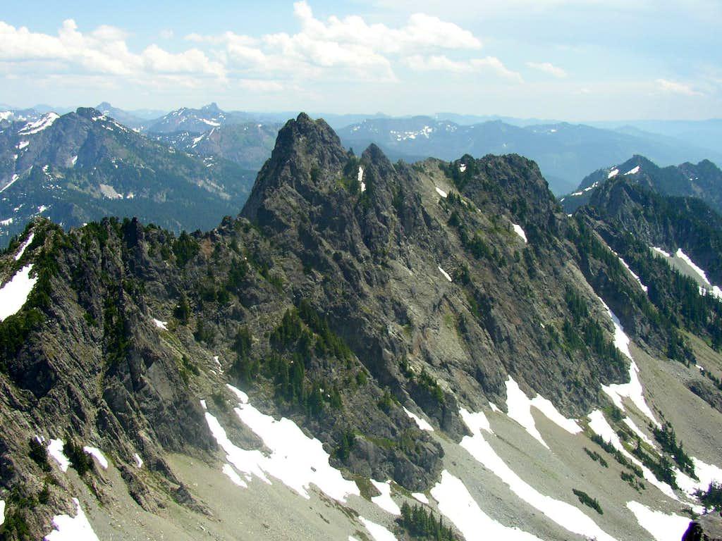 Chair peak from the summit of Kaleetan