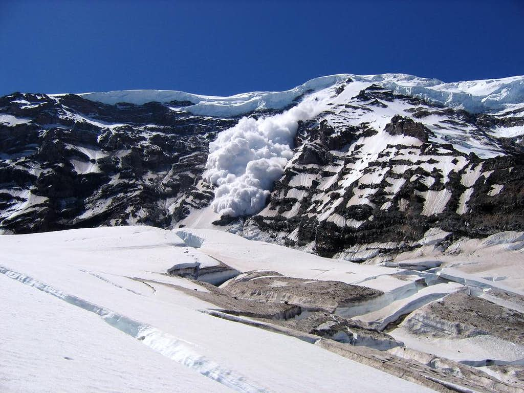 Avalanche on Willis Wall