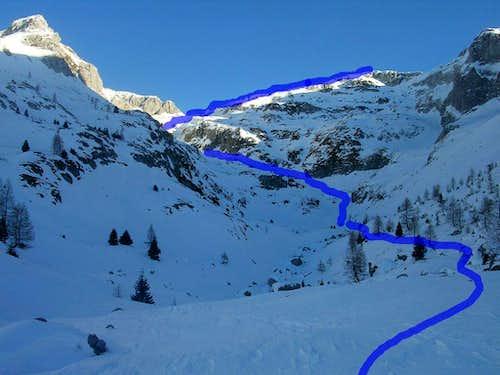 Cima Lastè Ski Route – Alpago