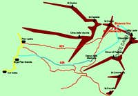 Cima Lastè Map - Alpago