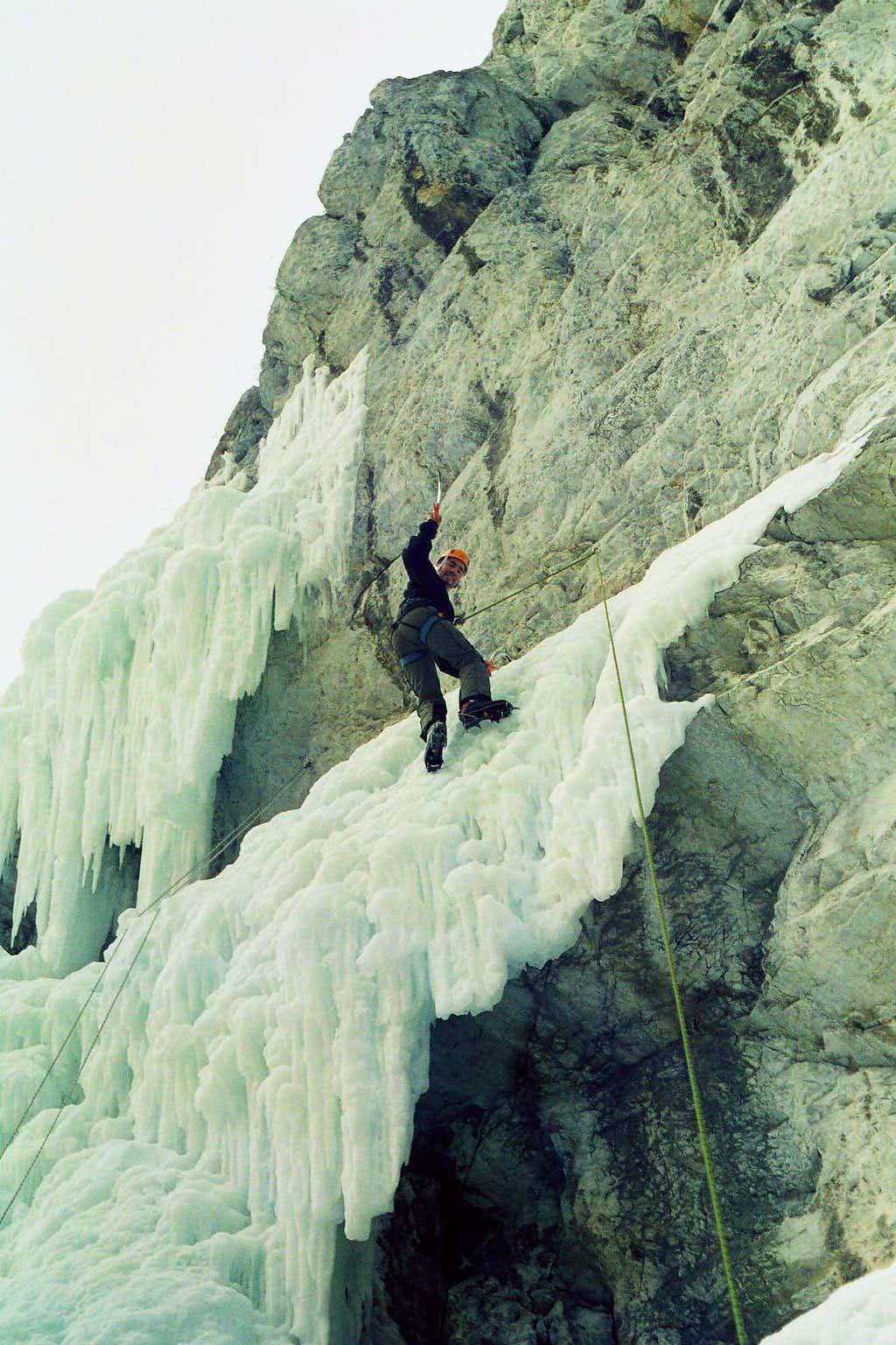 Ice climbing in Hámor