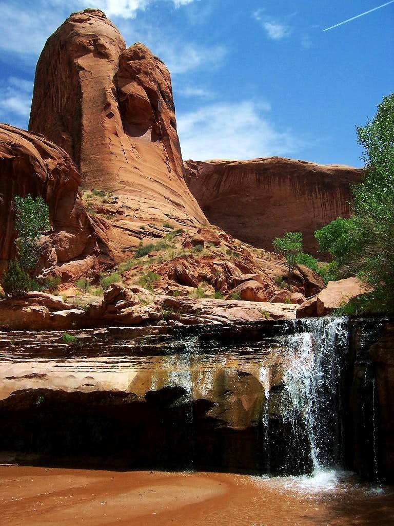 Waterfall Coyote Gulch, Escalante