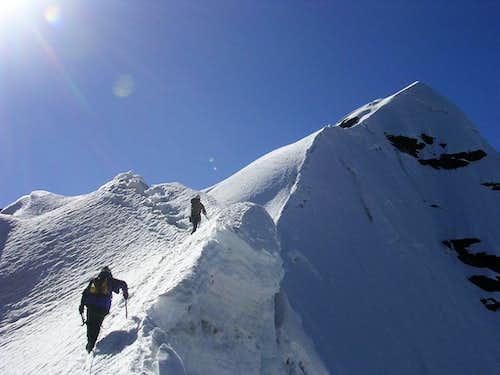 Starting up the West-Southwest Ridge