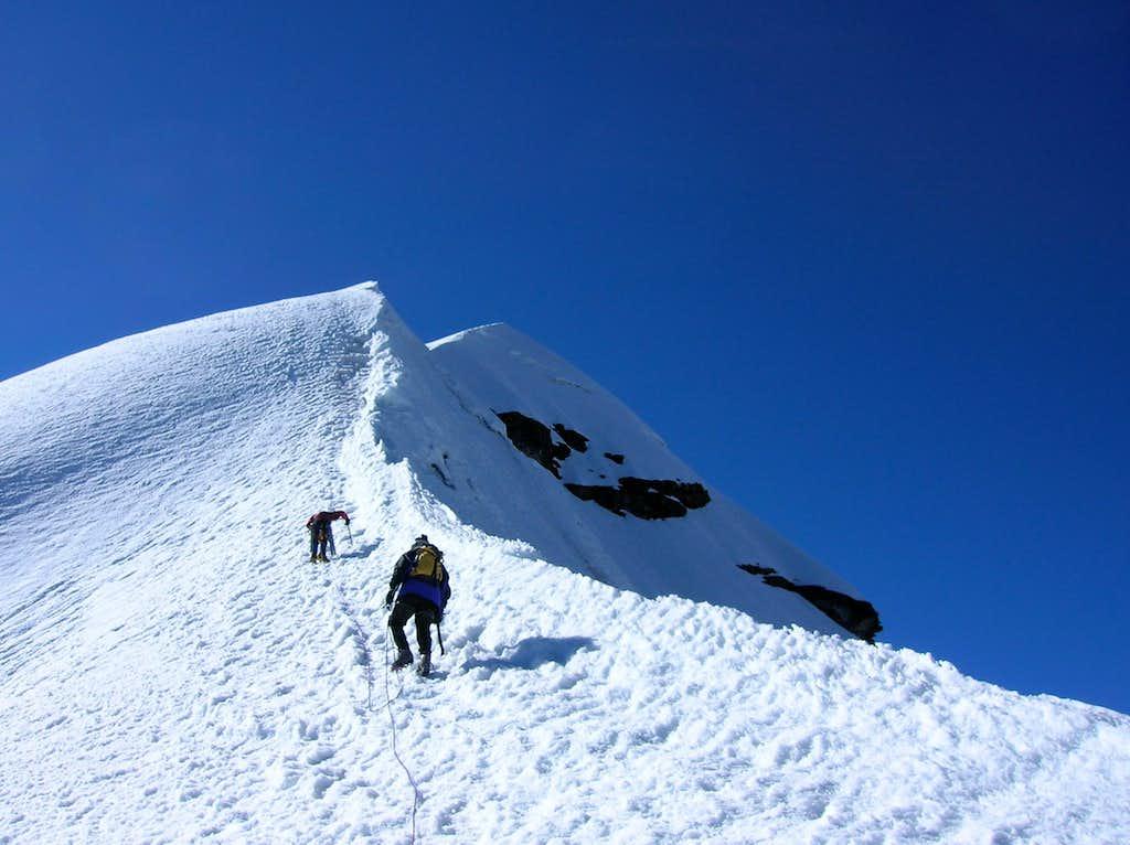 Steepest Section of West-Southwest Ridge