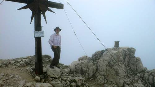 On the summit of Guffert Spitz