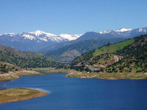 Alta Peak and Lake Kaweah