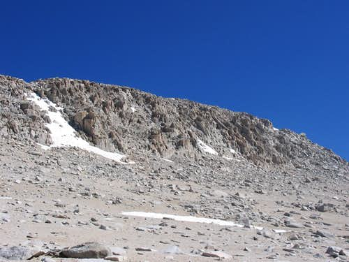 Nearing the summit plateau