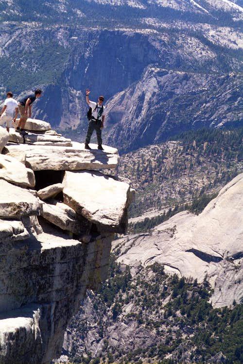 Classic Half Dome overhang