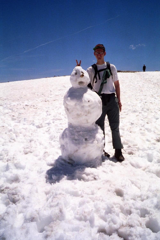 Half Dome snowwoman