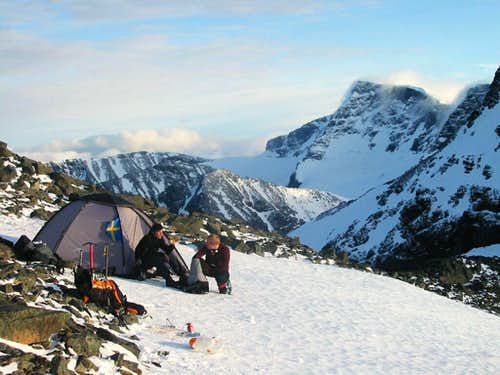 Camp on the ridge