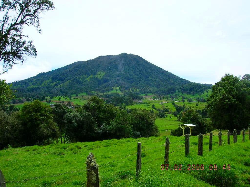 Volcan Turrialba as seen  near Turrialba  Lodge:  July 2, 2006