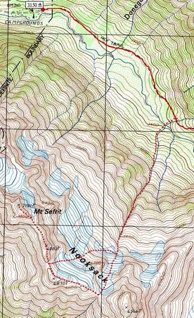 Topo map of climb. See Green...