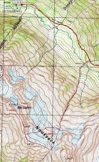 Topo map of climb. See Green...