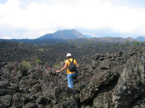 Crossing the lava field