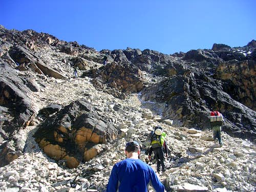 Approach to High Camp (Rock Camp)