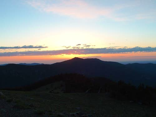 Sunrise form Mount Evans