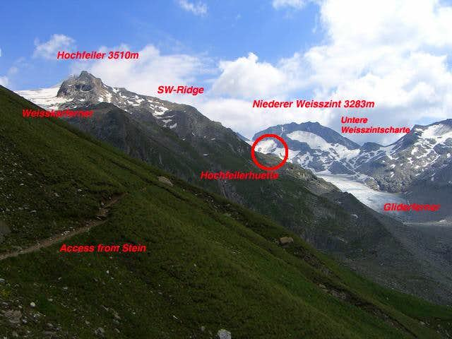 Hochfeiler southwest-ridge (normal route)