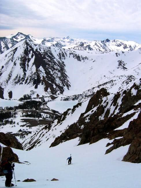 Climbing the south couloir...