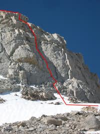 North Face, I, 5.3 (4 pitches)