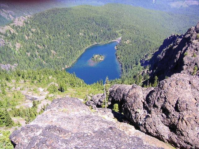 Lake Angeles from Klahhanie ridge