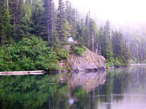 My Campsite on Lake Angeles