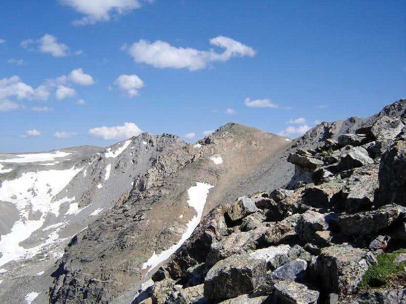 first good view of the summit