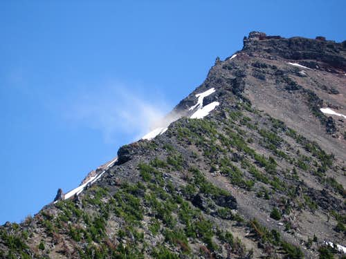 Rock Fall on NW Ridge on 7-16-06