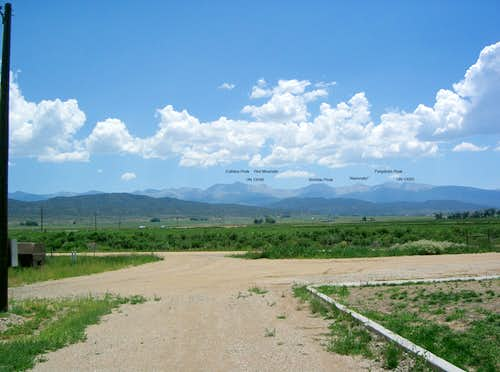 Culebra Peak, Red Mountain &