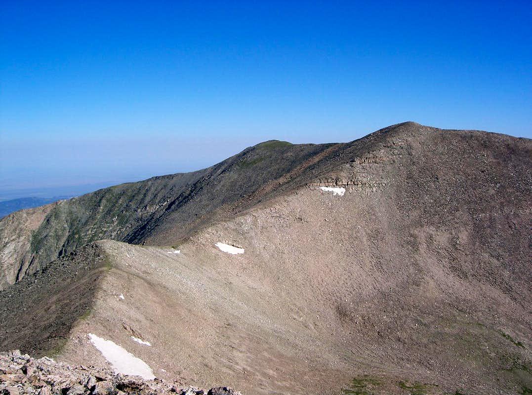 Culebra Peak from Red Mountain
