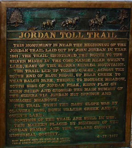 Jordan Trail Historical Marker