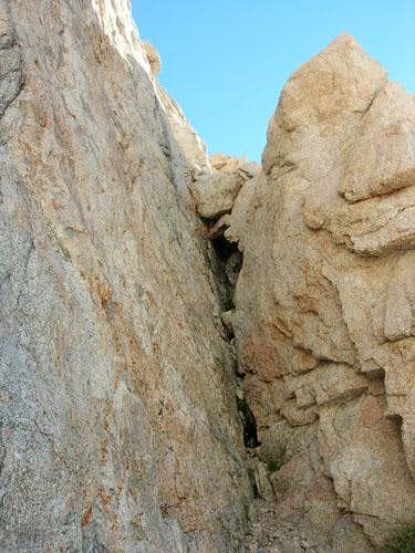 Wotan\'s Throne - South Chimney Route