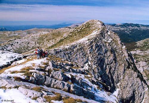 Troglav summit