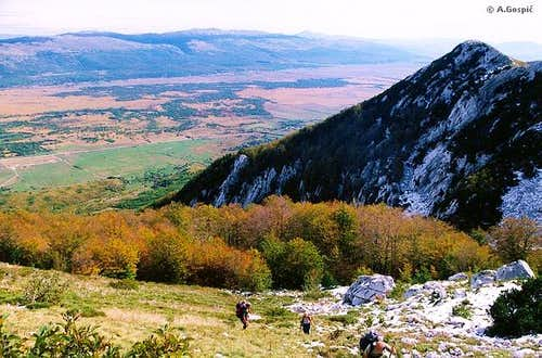 Climbing Troglav from Sajkovici